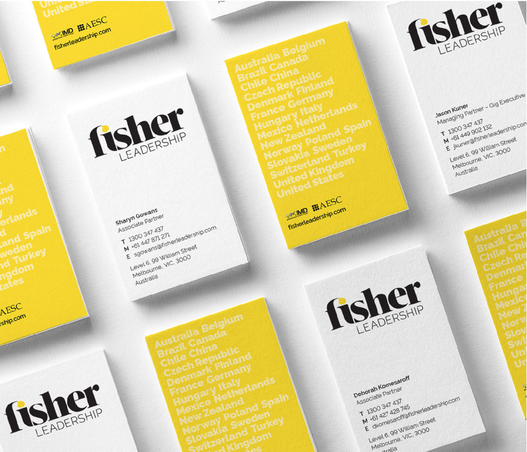 Fisher Leadership Business Card Designs